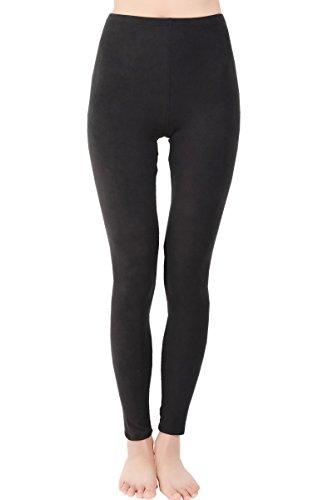 Ndoobiy Ultra Soft Women Yoga Capris Cropped Leggings-Regular and Plus Size L6(Black PS) ()