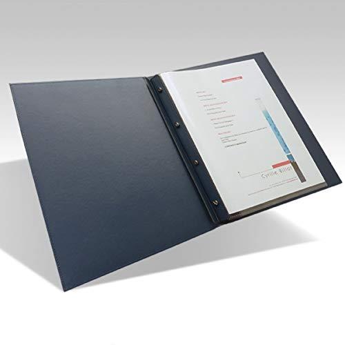 Protezione per menu ristorante A4/alta qualit/à Porta menu da tavolo Similpelle Blu