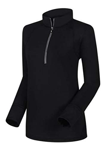 FootJoy Women's Half-Zip Golf Pullover (S, Black)