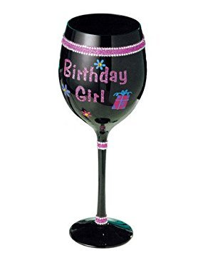 Grasslands Road Simply Fabulous Happy Birthday Girl Wine Glass ()