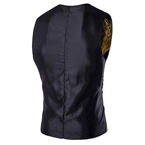 Classique Gilets Col V Gilet Manches Outwear Or Hommes De Garçons Vestes Fête Veste Manteau Décontractées Sans Costume En Pour Bouton 6xnwq8W7r6
