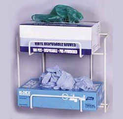 Top Dispensing Exam Glove Rack, Holds 2 Boxes, Dimensions: 9.25