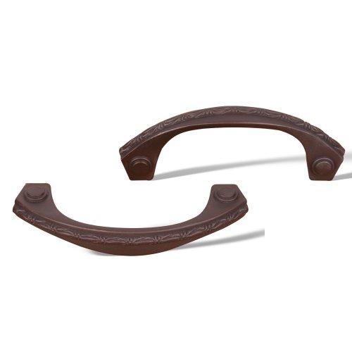 Deco Leaf Bow Pull - Rk International - Rki Deco-Leaf Bow Pull (Rkicp5617Rb)-Oil Rubbed Bronze