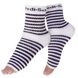 Pedi Sox Black and White Stripe 1 pair