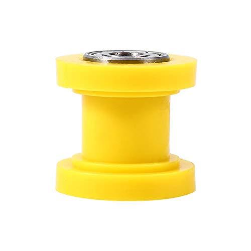 8 mm kettingrol, kettingrolschuifspanner, katrolkettingrolwielgeleider voor straatfiets motorfiets ATV(Geel)