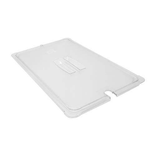 Carlisle 10211U07 StorPlus Full Size Polycarbonate Universal Handled Notched Food Pan Lid, ()