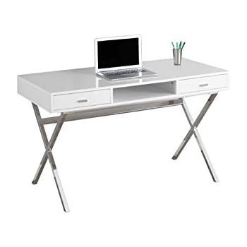 Amazon Com We Furniture 48 Quot Storage Computer Desk White