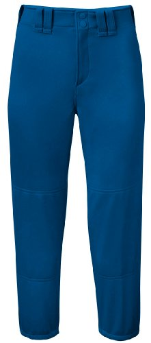 Mizuno Adult Women's Belted Low Rise Fastpitch Softball Pant, Royal, Large