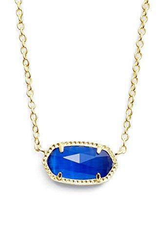 Eye Cat Choker Necklace (Kendra Scott Birthstone Elisa September/ Cobalt Cats Eye Pendant Necklace)