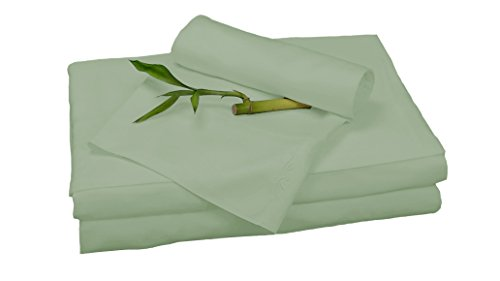100% Bamboo Rayon Sheet Sets by BedVoyage the Eco Resort Linen Collection is Spa and Resort Luxury in Your Own Bedroom (Queen, Sage) Bamboo Bedroom Bed
