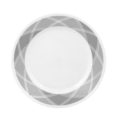 Corelle Vive 8-1/2-Inch Lunch Plate, Savvy Shades Grey
