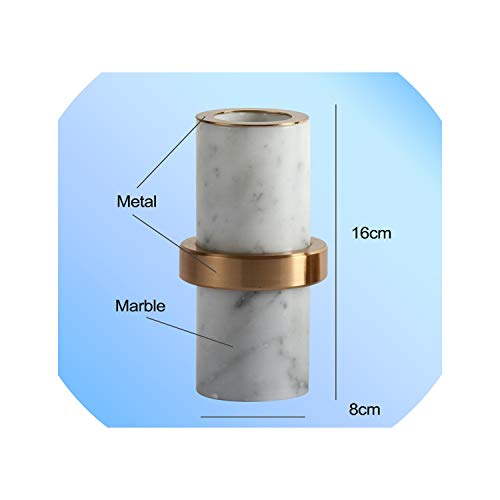 Modern Marble Candle Holders Home Decoration Stone Candle candlesticks Candles Home Decoration for Toilet Bathroom Dining Room,Type-A-L