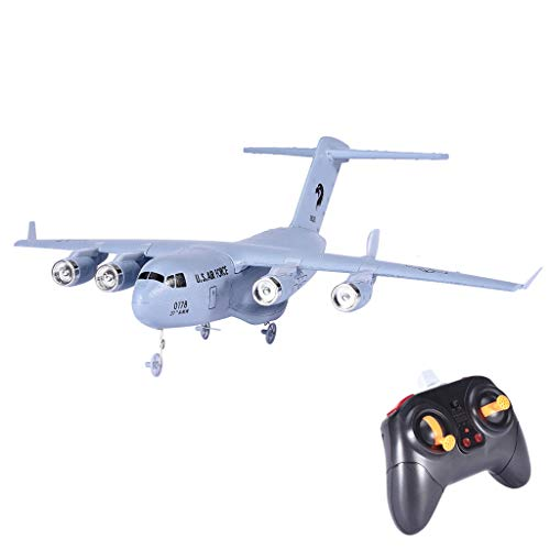 Jeeke C-17 2.4GHz 2CH 3-Axis RC Airplane Transport Aircraft EPP with Gyro RTF Toy, 4 Directional Flight/Ascending/Descending/Turn Left/Turn Right, Ship Form USA (White)