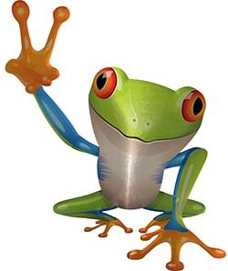 REFLECTIVE Cool Peace Frog Decal