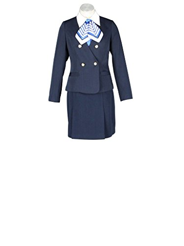 Mtxc Women's Flight Attendant Girl Culture Cosplay Airline stewardess Uniform 7th Size XX-Small Blue -