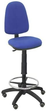 Piqueras Y Crespo T04CP Ayna bali- Taburete ergonómico, regulable en altura, aro reposapiés y ruedas de parquet, 100/123x46x40 cm, Azul