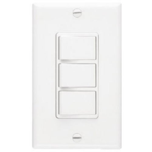 Broan-NuTone 66W NuTone Ventilation, Independent Switches for Heaters and Fans, 15 Amp, 120V, White Three-Function Wall Control, 20 from Broan-NuTone