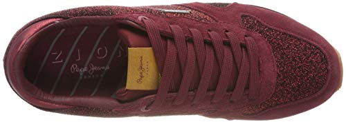 Wine Zion Jeans 499 Femme Basses Lux Pepe dk Rouge Baskets AHw1fw7q