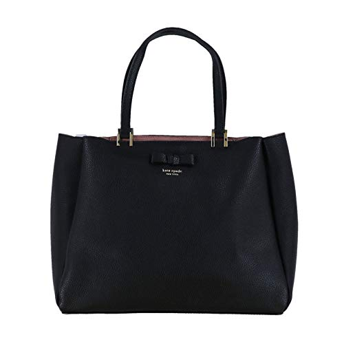 Kate Spade New York Nell Pershing Street Purse (Black/WarmVellum) ()