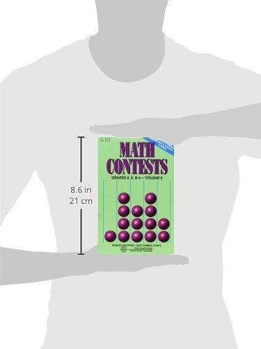 Amazoncom Math Contests Grades 4 5 6 Vol 5 9780940805156