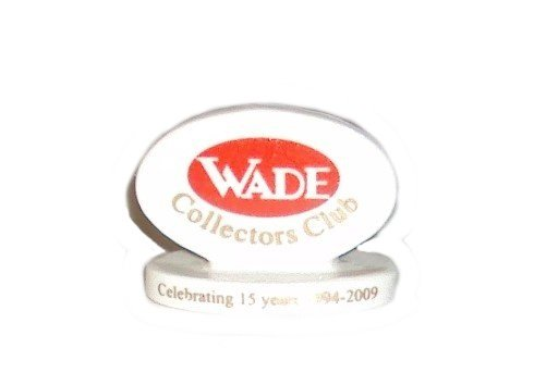Wade Whimsies Porcelain Figurine Logo Collectors Club Plaque