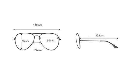 Sol 5 Gafas SunglassesMAN Color UV400 protección Yxsd Aviador para de de de Marco con Hombre de 6 Metal 4U4Aqnax