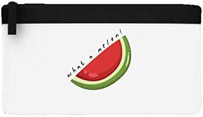 What A Melon - Estuche plano para lápices, diseño de sandía y frutas y verduras, color negro talla única: Amazon.es: Oficina y papelería