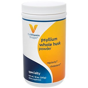 Psyllium Whole Husks Powder – Fiber Supplement That Supports Regularity Healthy Cholesterol, Easy Mixing Powder – 68 Servings, 13 Times Daily (12 Ounces Powder) by The Vitamin Shoppe