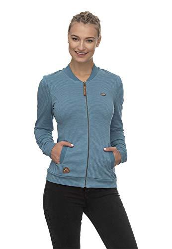 Ragwear Zipper Damen Carlie Organic 2011-30069 Blau Baltic 5033