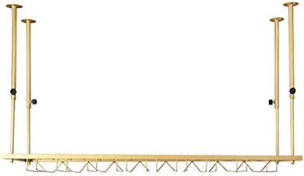 LJWJ Estante de Vino, Bar, Restaurante, Colgando, Rack de Copa de Vino, Techo Tallo de Techo Racks Colgando Botella de Vino Rack Ajustable Altura Ajustable Copa de Vino,60 × 35 cm