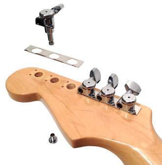 Black Hipshot 6K1GL0 Open Grip-Lock Guitar Machine Heads Set of 6 Inline