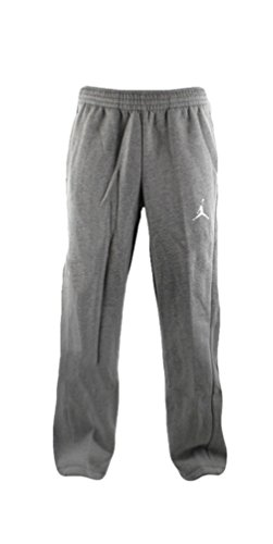 Nike Mens Jordan Flight Basketball OH Fleece Sweatpants Light Grey/White 823073-063 Size Medium by NIKE