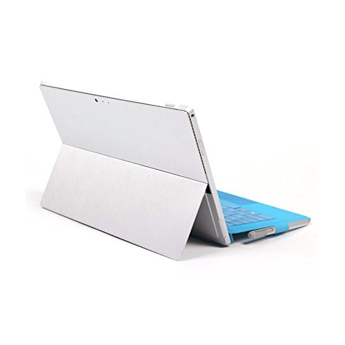 FoRapid Premium Protective Back & Side Body Stickers Skins Universal Tablet Decal Cover for Microsoft Surface Pro 4/ Pro 2017 - Brushed Aluminum (Premium Vinyl Skin)