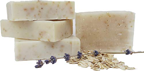 Scenter of the Mind Luxurious All Natural Handmade Vegan Soap, Soothing Lavender Oatmeal - 4-Pack
