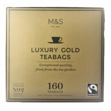 UK Marks & Spencer Luxury Gold Tea 160 Tea Bag MARKS & SPENCER LUXURY GOLD TEA 160 TEABAGS 500 G