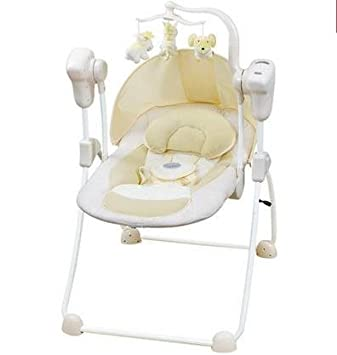 c540ae56a9d Amazon.com   Automatic Baby Vibrating Chair Musical Rocking Chair Electric  Recliner Cradling Baby Bouncer Swing with remote control   Baby