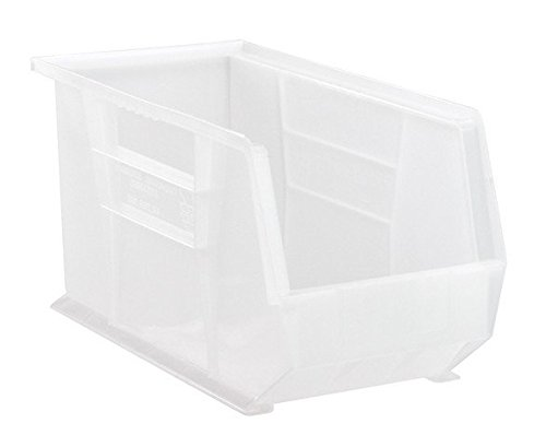 Quantum Storage QUS265CL Ultra Stack & Hang Bin44; Clear - 18 x 8.25 x 9 in.