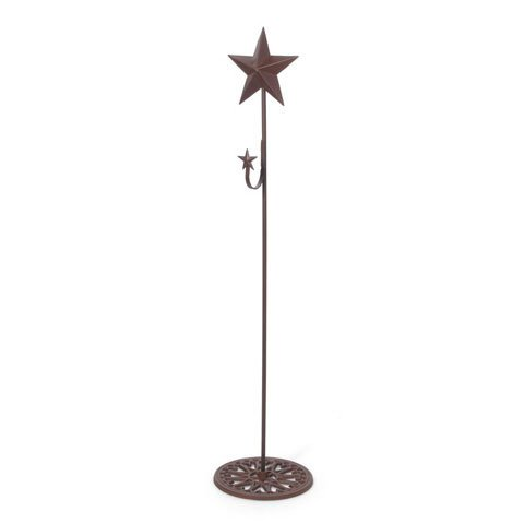 Bulk Buy: Darice DIY Crafts Standing Metal Wreath Hanger with Star 37 inches (4-Pack) 6562-51 by Darice