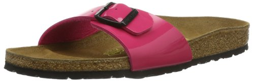 Birkenstock Madrid Birko-Flor - Sandalias de pala unisex Pink (PINK LACK)