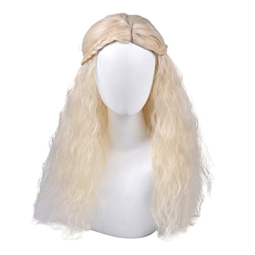 Daenerys Targaryen Cosplay Wig for Game of Thrones Season 7 - Khaleesi Costume Hair Wig (Light blonde) -
