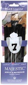 Majestic Royal Langnickel Short Handle Paint Brush Set, Angular, ()