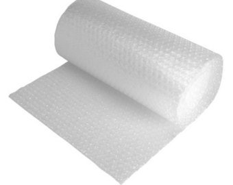 "Small Bubble Cushioning Wrap Roll 3/16"" x 12"" x 25ft - Perforated"