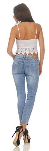 hellblau Fashion Jeans Femme OSAB 11581 6pIw6q