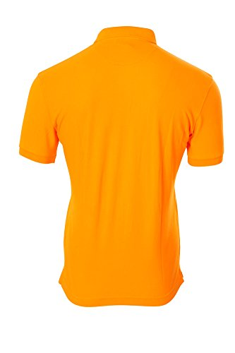 La Martina Polo Poloshirt Einfarbig Orange L