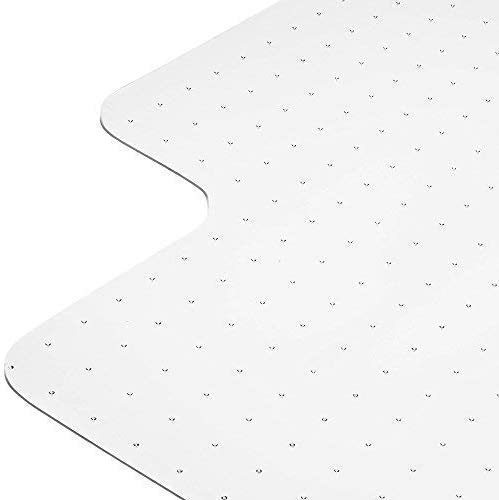 Heavy Duty Carpet Chair Mat Polycarbonate Crystal Clear Thick and Sturdy For Low and Medium Pile Carpets 36 X 48 X 1 8 With Lip Shipped Flat 2nd Generation New and Improved