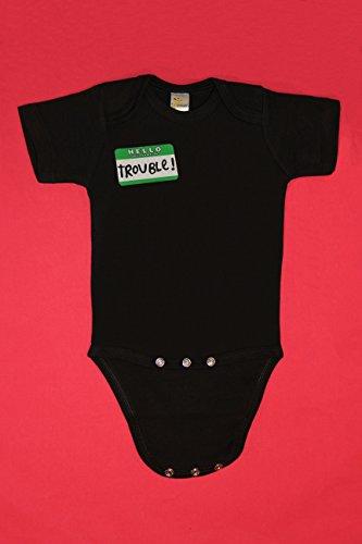 - Hello My Name Is Trouble Short Sleeve Baby Bodysuit