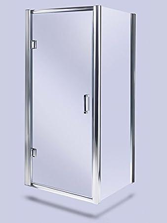 Con bisagras para mampara de ducha de 900 mm plateado 6 mm cristal 1900 mm heigh y 760 mm Panel lateral: Amazon.es: Bricolaje y herramientas