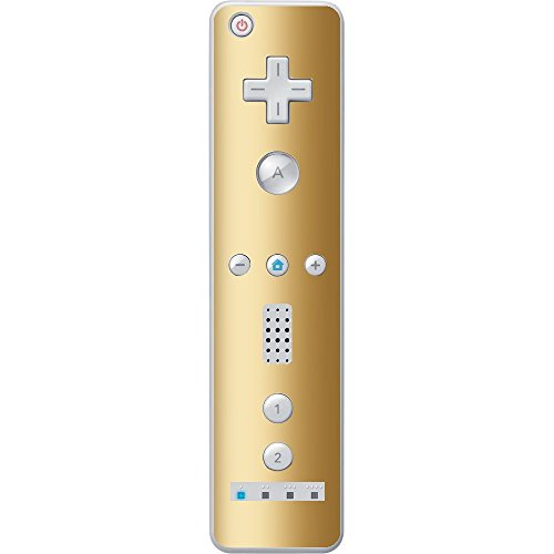 Gold Shiny Gold Metallic Vinyl Decal Sticker Skin by Moonlight Printing for Wiimote Wii Controller (Gold Wiimote)