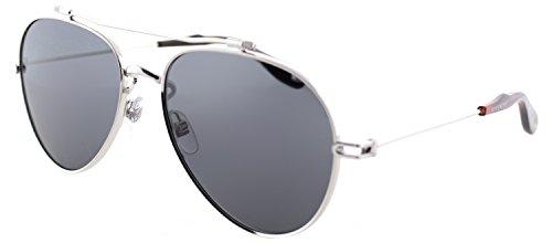 Givenchy GV 7057 Nude 010 M9 Palladium Metal Aviator Sunglasses Grey - Givenchy Aviator Sunglasses