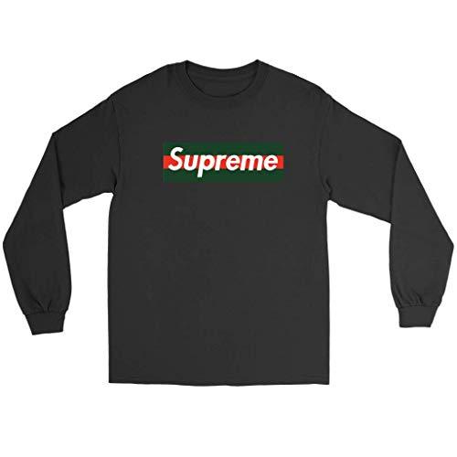 fcef8549bfc Supreme X Gucci Logo - Gucci t Shirt for Men - Long Sleeve Tee - 2XL